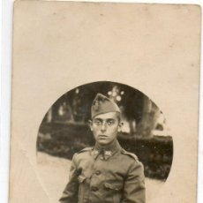 Militaria: FOTOGRAFIA MILITAR ANTIGUA-TAMAÑO POSTAL. Lote 39158042