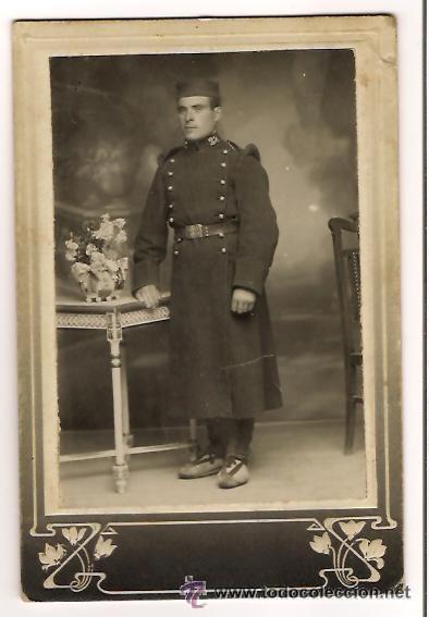 Militaria: FOTOGRAFÍA SOLDADO ALFONSINO REGIMIENTO Nº 22 (FOTO) - Foto 2 - 39450408
