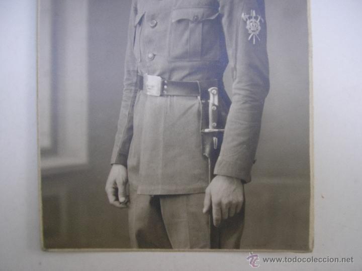 Militaria: SOLDADO REGIMIENTO INFANTERÍA INMEMORIAL DEL REY Nº 1,MADRID 1930,FOTÓGRAFO VANDEL - Foto 3 - 39505954
