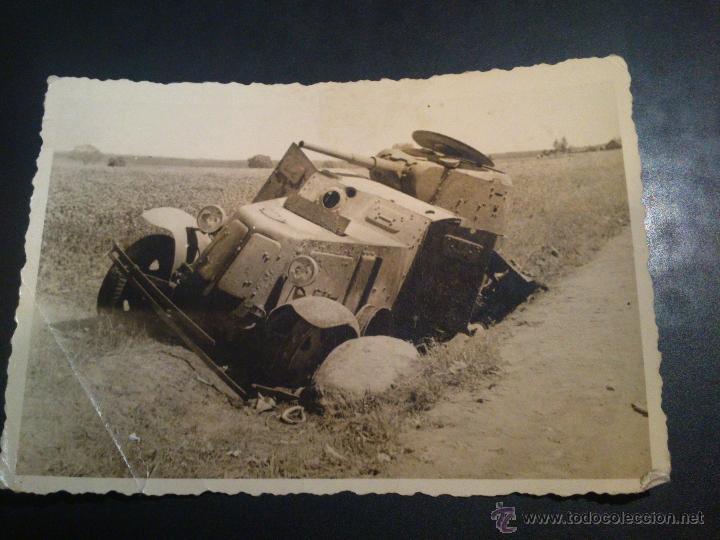 FOTOGRAFIA VEHICULO BLINDADO RUSO BA-10 ORIGINAL (Militar - Fotografía Militar - II Guerra Mundial)