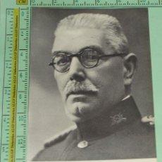 Militaria: FOTO DOCUMENTO MILITAR / POLÍTICO. GENERAL DOMINGO BATET, GENERAL DE DIVISIÓN GUERRA CIVIL 837. . Lote 47273928