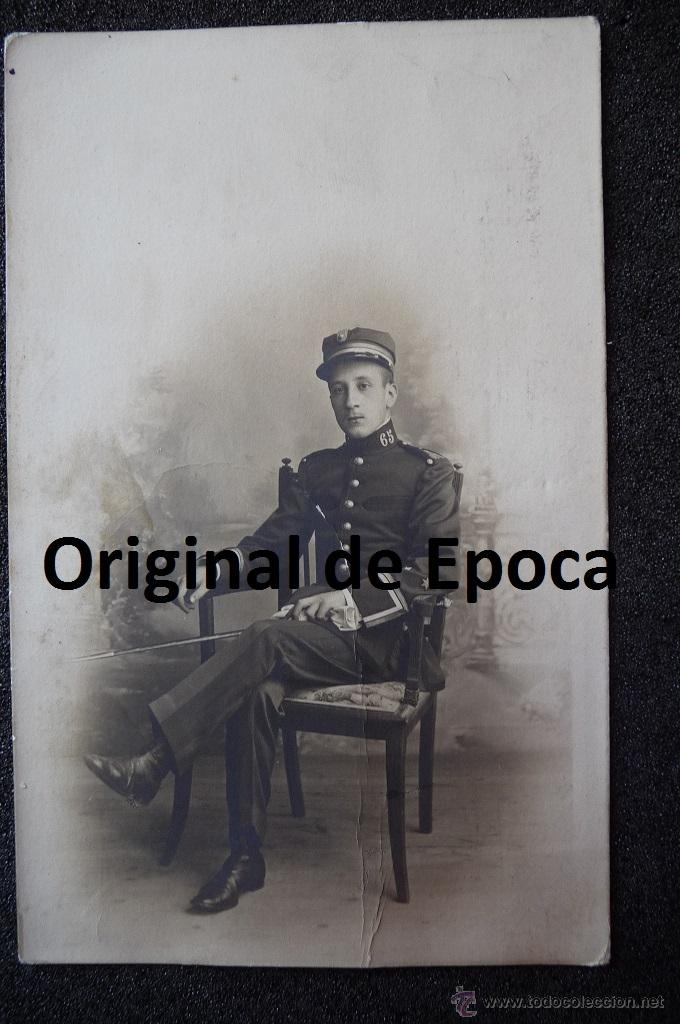 (JX-1105)FOTOGRAFIA DE TENIENTE DE INFANTERIA REG.Nº65,EPOCA ALFONSINA (Militar - Fotografía Militar - Otros)