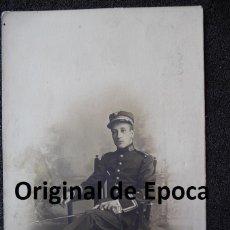 Militaria: (JX-1105)FOTOGRAFIA DE TENIENTE DE INFANTERIA REG.Nº65,EPOCA ALFONSINA. Lote 39603937