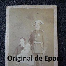 Militaria: (JX-1148)FOTOGRAFIA DE GUARDIA CIVIL,SIGLO XIX,REALIZADA EN GERONA. Lote 39823225