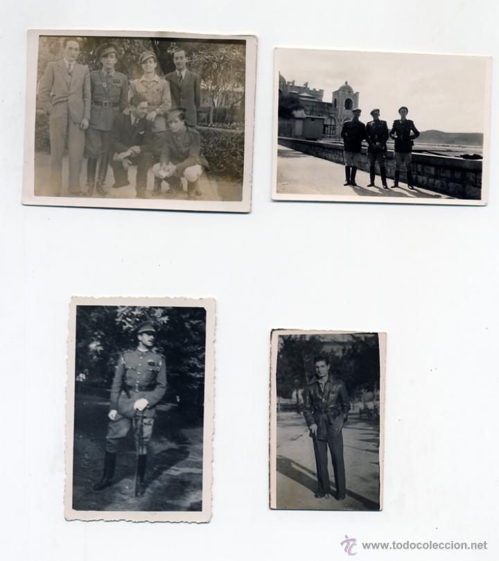 LOTE DE 4 FOTOS MILITARES AÑOS 40. MELILLA 1940 (Militar - Fotografía Militar - Otros)