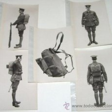 Militaria: LOTE DE 5 FOTOS PERTENECIENTES SEGURAMENTE A CATALOGO DE MATERIAL PARA UNIFORMES - POSIBLEMENTE INGL. Lote 38239392