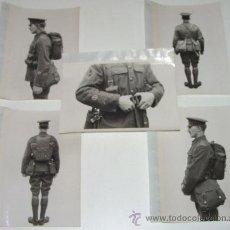 Militaria: LOTE DE 5 FOTOS PERTENECIENTES SEGURAMENTE A CATALOGO DE MATERIAL PARA UNIFORMES - POSIBLEMENTE INGL. Lote 38239457