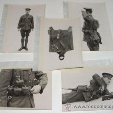 Militaria: LOTE DE 5 FOTOS PERTENECIENTES SEGURAMENTE A CATALOGO DE MATERIAL PARA UNIFORMES - POSIBLEMENTE INGL. Lote 38239458