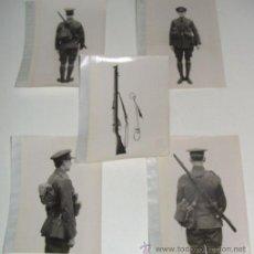 Militaria: LOTE DE 5 FOTOS PERTENECIENTES SEGURAMENTE A CATALOGO DE MATERIAL PARA UNIFORMES - POSIBLEMENTE INGL. Lote 38239459