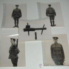 Militaria: LOTE DE 5 FOTOS PERTENECIENTES SEGURAMENTE A CATALOGO DE MATERIAL PARA UNIFORMES - POSIBLEMENTE INGL. Lote 38239460