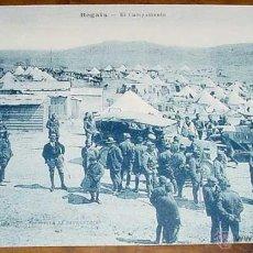 Militaria: ANTIGUA POSTAL DE LA GUERRA DEL RIF (MARRUECOS) . REGAIA, EL CAMPAMENTO - EDICION M. ARRIBAS - SIN C. Lote 38249444