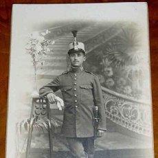 Militaria: ANTIGUA FOTO POSTAL DE MILITAR - FOTO CHINCHILLA DE TARRAGONA. SIN CIRCULAR. Lote 38251488