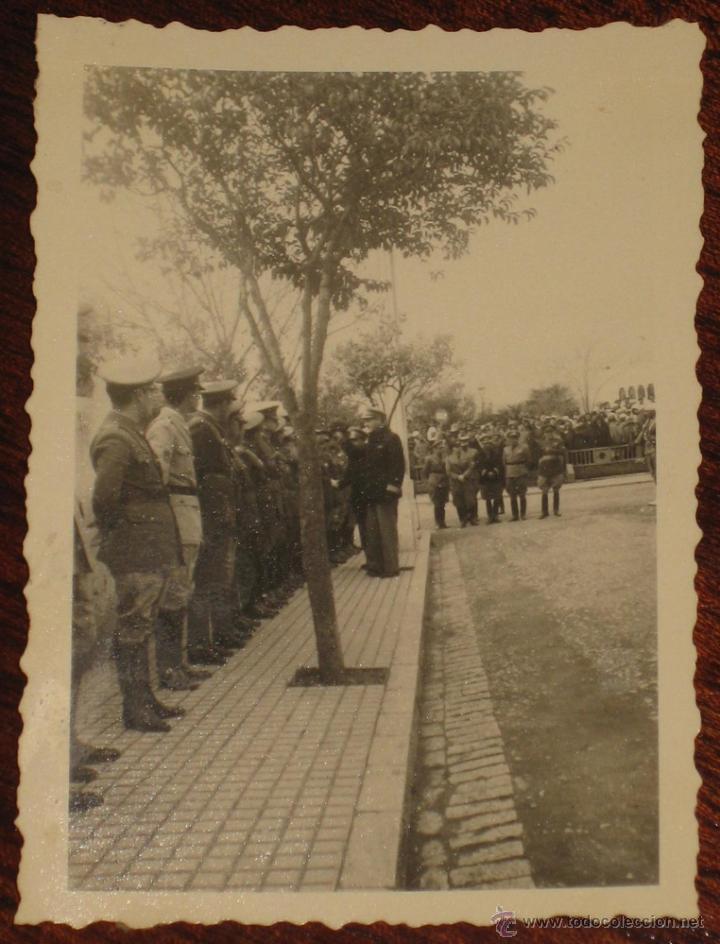 ANTIGUO FOTOGRAFIA DE OFICIALES ESPAÑOLES - FOTO ROS, CEUTA - POSIBLEMENTE EN TETUAN, XAUEN - PROTEC (Militar - Fotografía Militar - Otros)