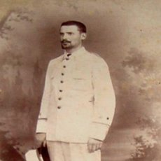 Militaria: PHILIPPINES ANTIGUA FOTOGRAFIA ALBUMINA DE MILITAR ESPAÑOL EN FILIPINAS - APROX. 1870 - FOTO. Lote 38259981