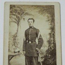 Militaria: ANTIGUA FOTOGRAFIA ALBUMINA DE TENIENTE CORONEL DEL EJERCITO ESPAÑOL, EPOCA ALFONSO XII, FOTOGRAFIA . Lote 38275685