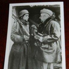 Militaria: ANTIGUA FOTOGRAFIA DE LA DIVISION AZUL, VOLUNTARIOS ESPAÑOLES EN RUSIA, EL GENERAL MOSCARDO - PK-BEC. Lote 38278212