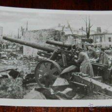 Militaria: ANTIGUA FOTOGRAFIA DE LA DIVISION AZUL, VOLUNTARIOS ESPAÑOLES EN RUSIA, PIEZA DE ARTILLERIA PESADA A. Lote 38278219