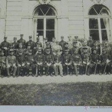 Militaria: ANTIGUA FOTOGRAFIA GIGANTE DE OBSERVADORES MILITARES EN MANIOBRAS MILITARES EN FRANCIA 1914 APROXIMA. Lote 38287861