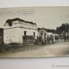 Militaria: FOTOGRAFIA POSTAL - MELILLA LA SEGUNDA CASETA EN EL DIA DE LA OCUPACION DE NADOR - 1921. Lote 40470967