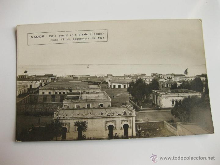 FOTOGRAFIA POSTAL - VISTA PARCIAL DE NADOR EL DIA DE SU OCUPACION - 1921 - GUERRA DE AFRICA (Militar - Fotografía Militar - Otros)