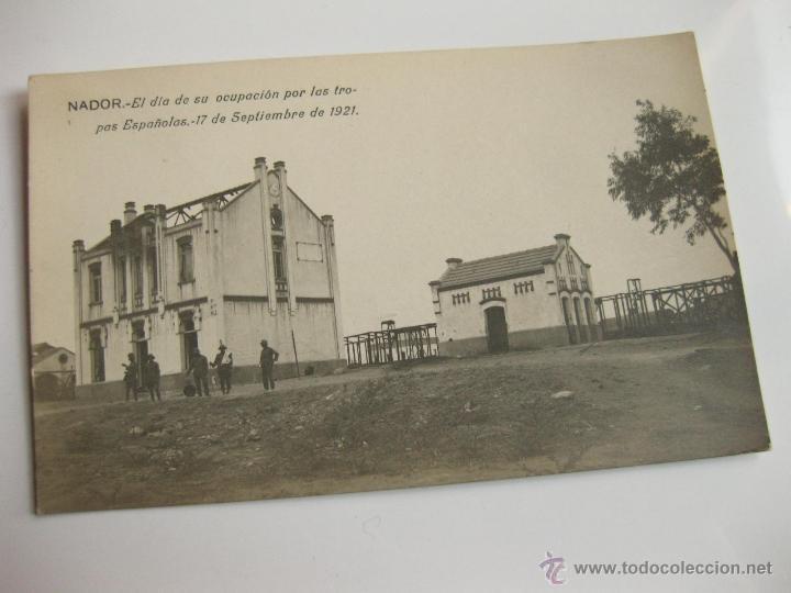 FOTOGRAFIA POSTAL - NADOR EL DIA DE SU OCUPACION POR LAS TROPAS ESPAÑOLAS 1921 - GUERRA DE AFRICA 4 (Militar - Fotografía Militar - Otros)