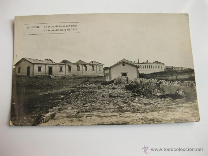 FOTOGRAFIA POSTAL - NADOR EL DIA DE SU OCUPACION POR LAS TROPAS ESPAÑOLAS 1921 - GUERRA DE AFRICA 6 (Militar - Fotografía Militar - Otros)