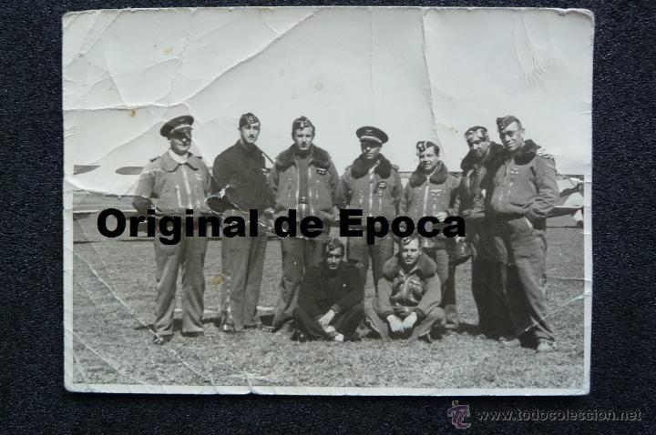 (JX-1210)FOTOGRAFIA DE PILOTOS DE AVIACION,GUERRA CIVIL,REPUBLICANOS??? (Militar - Fotografía Militar - Otros)