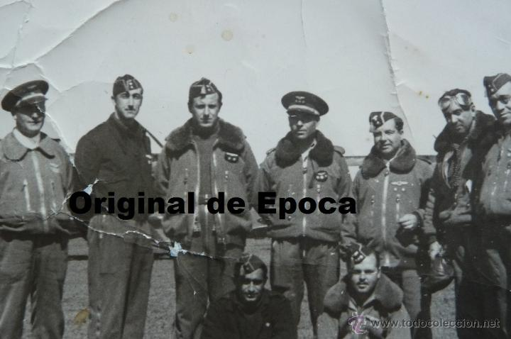 Militaria: (JX-1210)FOTOGRAFIA DE PILOTOS DE AVIACION,GUERRA CIVIL,REPUBLICANOS??? - Foto 2 - 40536887