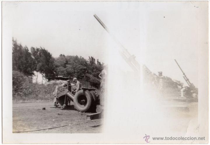 SOLDADOS AMERICANOS DE LA ARTILLERIA COSTERA EN OAHU, CAÑONES DE 90 MM, FOTOGRAFIA II GUERRA MUNDIAL (Militar - Fotografía Militar - II Guerra Mundial)