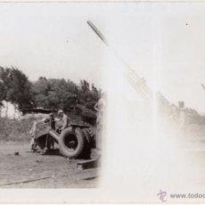 Militaria: SOLDADOS AMERICANOS DE LA ARTILLERIA COSTERA EN OAHU, CAÑONES DE 90 MM, FOTOGRAFIA II GUERRA MUNDIAL. Lote 40694504
