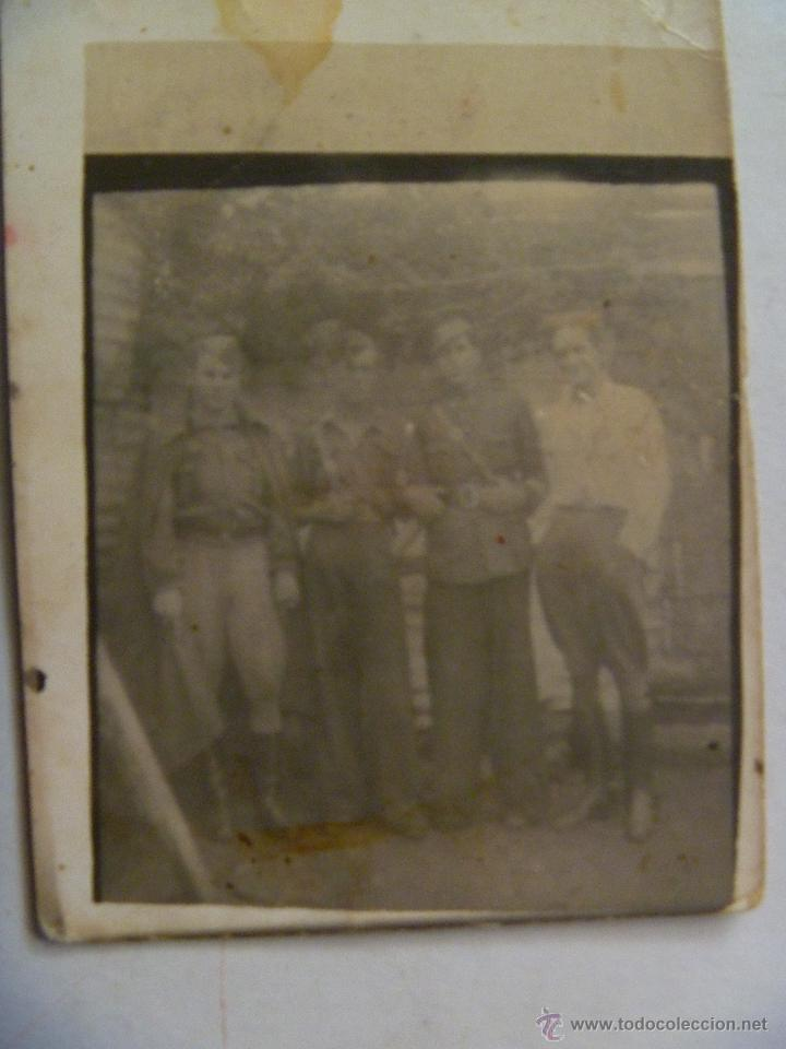 GUERRA CIVIL : FOTO DE SARGENTO Y SOLDADOS . MINUTERO (Militar - Fotografía Militar - Guerra Civil Española)