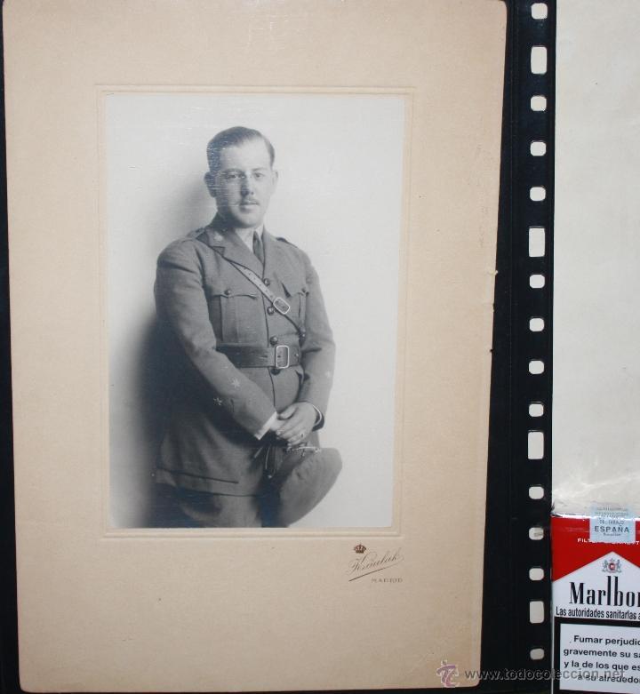 GRAN FOTOGRAFIA DE OFICIAL DE ARTILLERIA EPOCA DE ALFONSO XIII (Militar - Fotografía Militar - Otros)