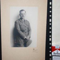 Militaria: GRAN FOTOGRAFIA DE OFICIAL DE ARTILLERIA EPOCA DE ALFONSO XIII. Lote 40837140