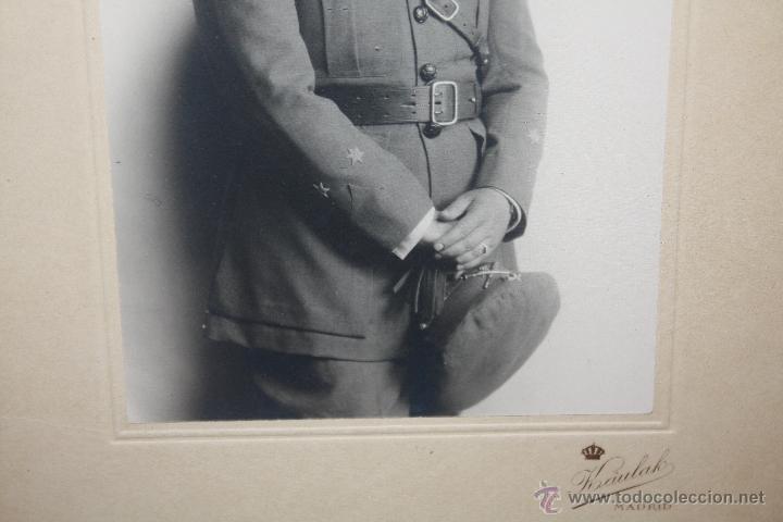 Militaria: GRAN FOTOGRAFIA DE OFICIAL DE ARTILLERIA EPOCA DE ALFONSO XIII - Foto 3 - 40837140