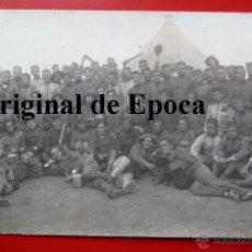 Militaria: (JX-1242)FOTOGRAFIA SOLDADOS CAMPAÑA DEL RIF,ALGUNOS CON BRAZALETE DE LA CRUZ ROJA. Lote 40942372
