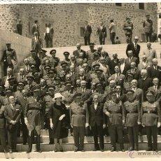 Militaria: EL GENERALISIMO FRANCO SU MUJER Y DEMAS PERSONALIDADES TOLEDO. Lote 40991693