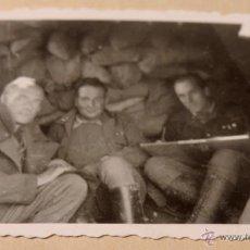 Militaria: FOTOGRAFIA GUERRA CIVIL 1938, FRENTE DEL EBRO, MILITAR DE LA LEGION CONDOR, ESTA FOTO TIENE MUCHA D. Lote 41110359