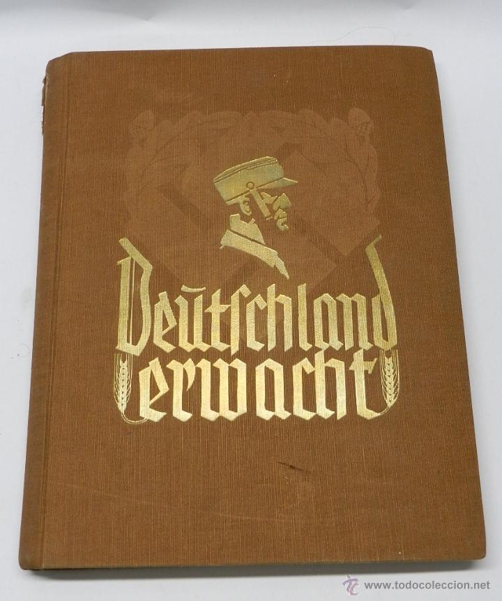 ALBUM DE FOTOS - 1933. ALEMANIA DESPIERTA, DEUTSCHLAND ERWACHT, ALBUM PROPGANDÍSTICO EDITADO EN HOME (Militar - Fotografía Militar - II Guerra Mundial)