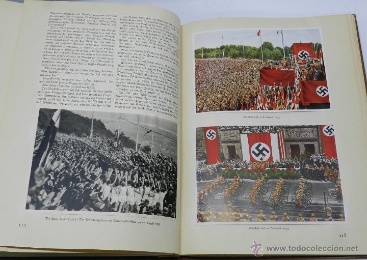 Militaria: ALBUM DE FOTOS - 1933. ALEMANIA DESPIERTA, Deutschland erwacht, Album propgandístico editado en home - Foto 4 - 41158981