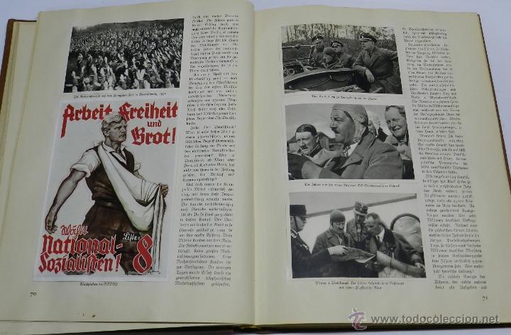 Militaria: ALBUM DE FOTOS - 1933. ALEMANIA DESPIERTA, Deutschland erwacht, Album propgandístico editado en home - Foto 6 - 41158981