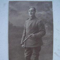 Militaria: FOTOGRAFIA SOLDADO INGLES: FRENTE DE FRANCIA 1918. Iº GUERRA MUNDIAL.. 12 X 7 CM.... Lote 41266582