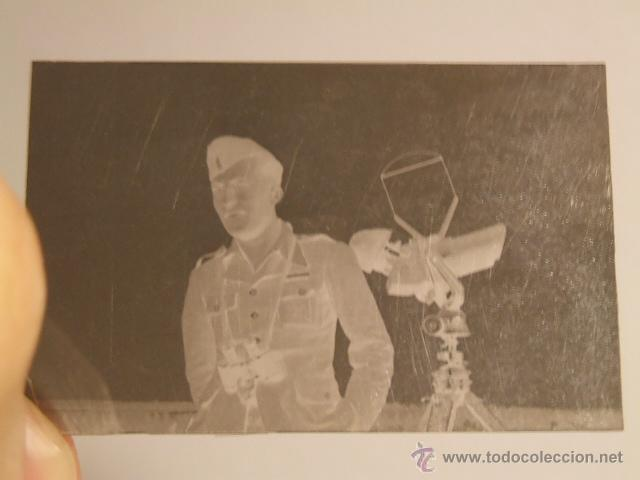 AVILA AERODROMO SOLDADO LEGION CONDOR DEFENSA ANTIAEREA NEGATIVO ORIGINAL GUERRA CIVIL (Militar - Fotografía Militar - Guerra Civil Española)