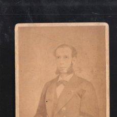Militaria: FOTO DE MILITAR ESPAÑOL CONDECORADO. 1875. GUERRA DE CUBA. SPANISH AMERICAN WAR. FREDICKS Y DARIES. Lote 41278767