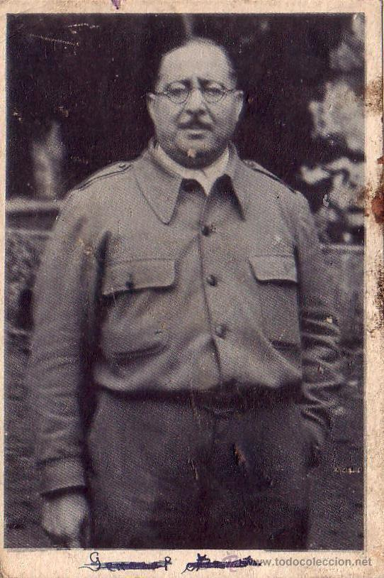 TARJETA POSTAL .GENERAL ANTONIO ARANDA GENERAL REPUBLICANO -VER FOTOS (Militar - Fotografía Militar - Guerra Civil Española)