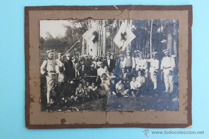 FOTOGRAFIA GRUPO CRUZ ROJA EPOCA ALFONSO XIII - REPUBLICA FOTO (Militar - Fotografía Militar - Otros)