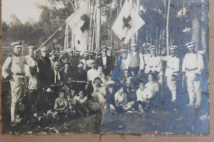 Militaria: FOTOGRAFIA GRUPO CRUZ ROJA EPOCA ALFONSO XIII - REPUBLICA FOTO - Foto 2 - 41337665