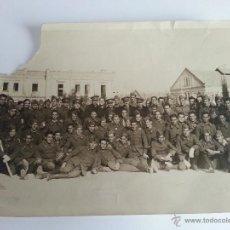 Militaria: FOTO MILITARES DE ARTILLERIA, OFICIALES, JEFES Y TROPA EN CAMPAÑA O CAMPAMENTO. Lote 41373575