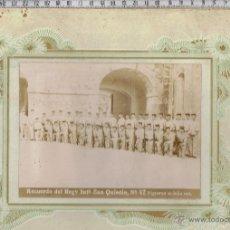 Militaria: FOTO RECUERDO-REGIMIENTO INFANTERIA SAN QUINTIN-Nº47.FIGUERAS 1913.. Lote 41483258