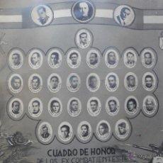 Militaria: (JX-1270)CUADRO DE HONOR(CARTEL)DE LOS EX-COMBATIENTES DE TORTOSA(TARRAGONA)-GUERRA CIVIL. Lote 41682996