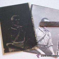 Militaria - GUERRA CIVIL: NEGATIVO DE MILICIANO COMUNISTA CON ESTRELLA ROJA Y FOTO REVELADA DEL MISMO.. - 42198513